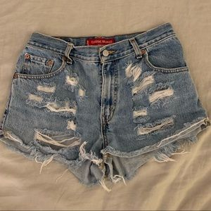 Levi's for Aritzia Distressed High-Rise Shorts